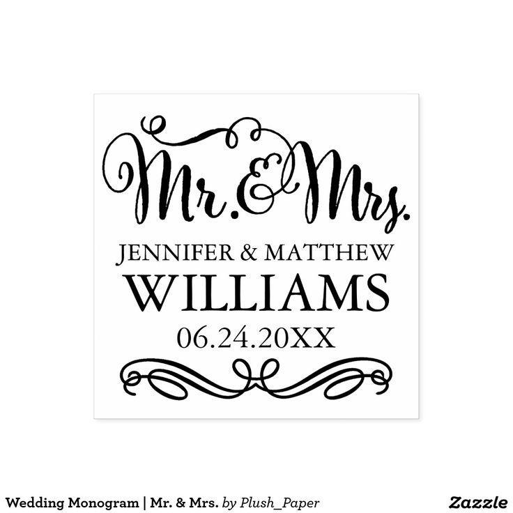Wedding Monogram | Mr. & Mrs.