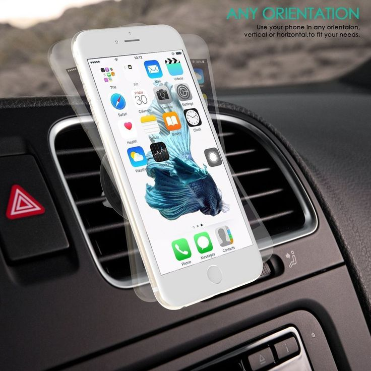 This Car Phone Mount Holder Handsfree is using force of nature, the magnet with improved suction force hold your device and never drop no matter how bumpy the road becomes.