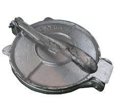 TORTILLADORA MANUAL: Prensa para hacer tortillas, fabricada totalmente en aluminio.