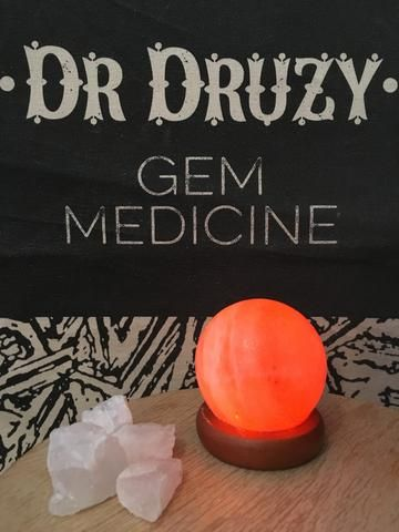 USB Himalayan Crystal Salt Lamp - Ball Shape - Dr Druzy - 1