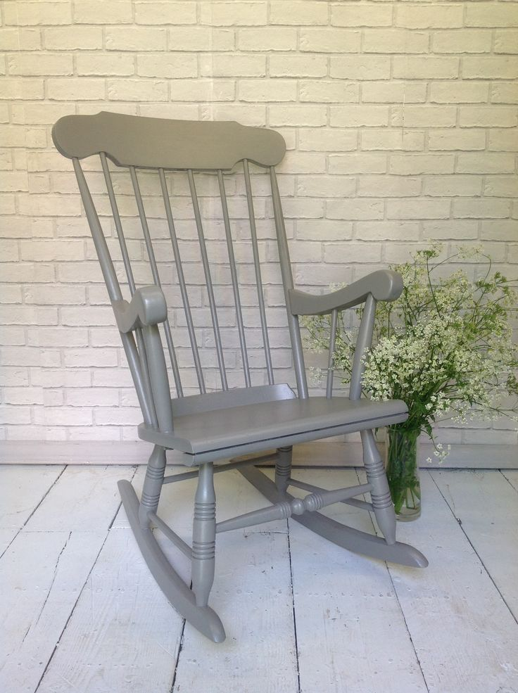 Solid Pine Rocking Chair Hand Painted In Farrow And Ball