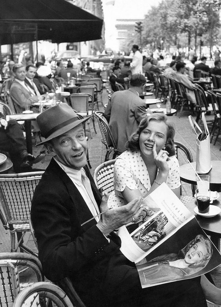 TheChamps-Elysées, 1961.  Fred and Ava Astaire.
