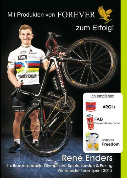 London 2012 Olympia & Beijing 2008 bronze winner Rene Enders is excited about the Forever Products.