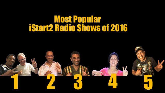 iStart2 Blog : Most Popular iStart2 Radio Shows of 2016