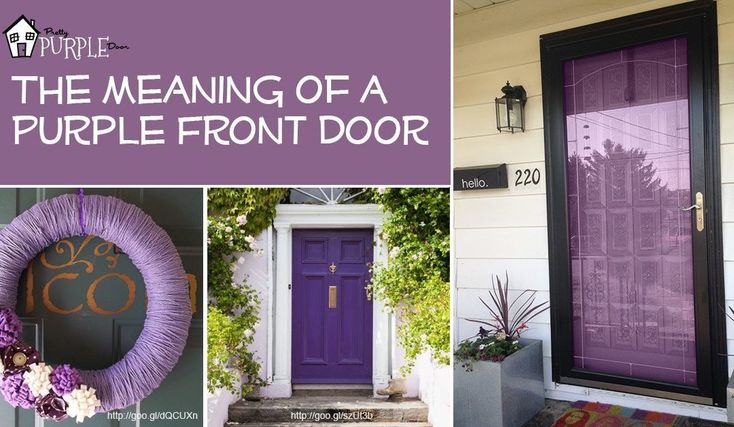 Why a Purple Front Door? Purple Front Door Meaning