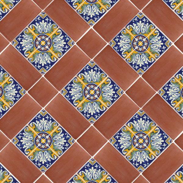 hint of spanish tile | 12 Spanish Mission Red Terracotta Floor Tile - White Kitchen stove backsplash