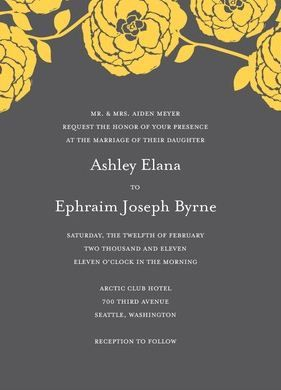The Perfect Palette: {You Are My Sunshine}: A Palette of Gray + Yellow: Invitations 3, Black Backgrounds, Ideas, Inspiration, Invitations Yellow, Colors, Purple Flowers, Invitations Stationery, Bridal Shower Invitations