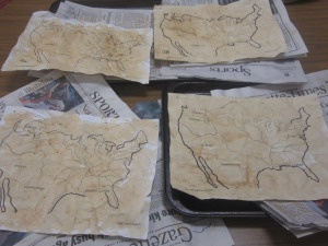 Lewis and Clark Unit  Tea stained maps