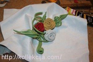 Розы из кожи своими руками
