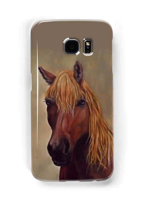 Galaxy Case,  brown,cool,beautiful,fancy,unique,trendy,artistic,awesome,fahionable,unusual,accessories,for sale,design,items,products,gifts,presents,ideas, horse,equine,portrait,animal,wildlife,redbubble
