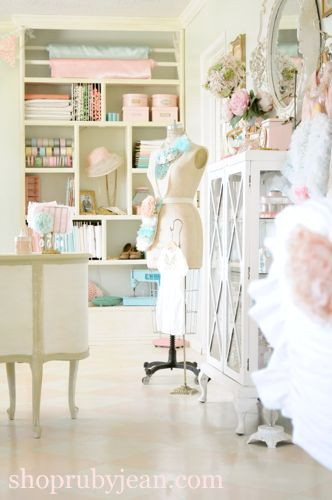Vintage sewing room - craft room