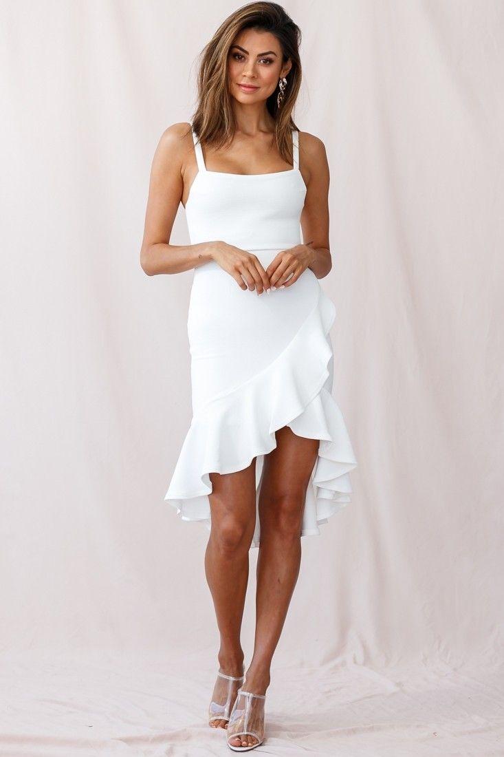 Cartagena High Low Asymmetric Salsa Dress White Salsa Dress White Dress Party White Dress [ 1100 x 733 Pixel ]