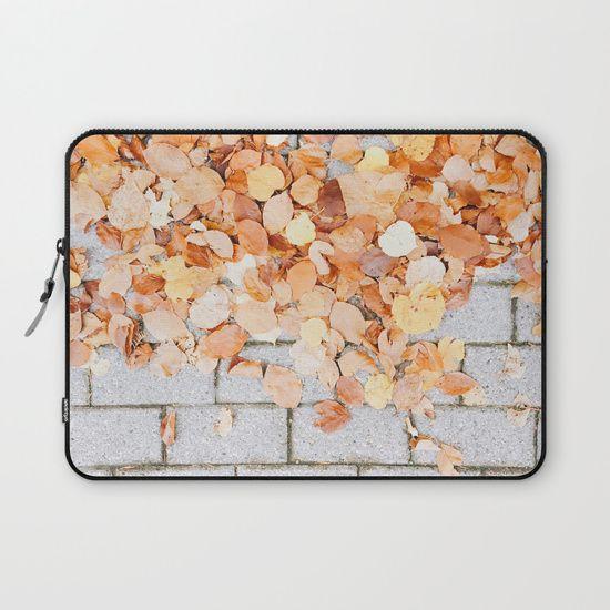 Orange Fall Laptop Sleeve  #leaf #leaves #fall #autumn #nature #tree #colours #colors #outdoor #street #photography #orange #autumnleaves #autumnleaf #laptopsleeve #laptopcase #macbookcase #backtoschoolgift
