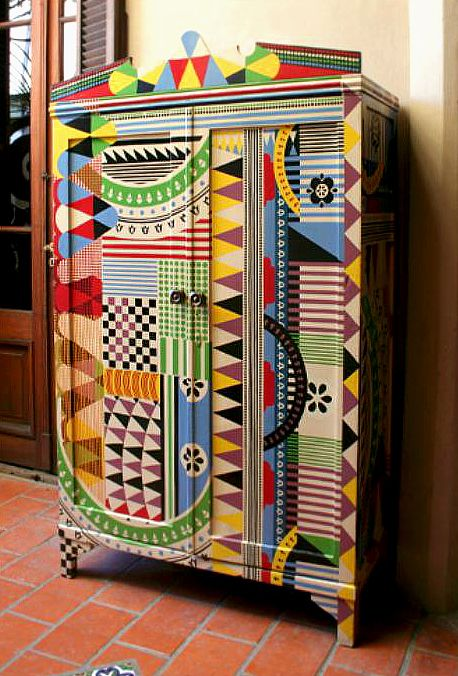 Decorative Painting Ideas To Renew The Armoire In The Abode · Hand Painted  FurnitureFunky ...