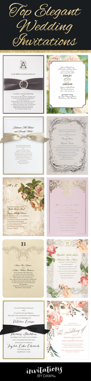 Beautifully elegant wedding invitations.