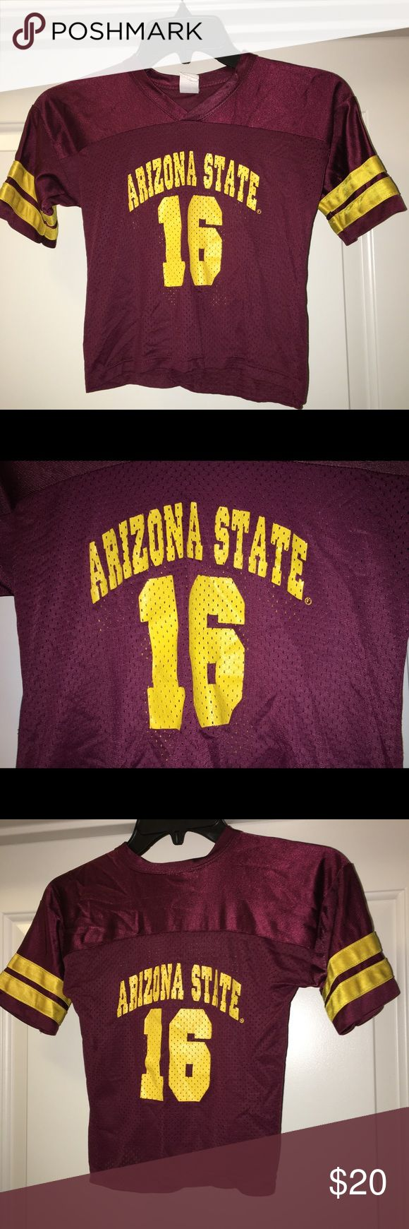 "ASU Sun Devils Jake Plummer toddler jersey SZ: 4 Thank you for viewing my listing, for sale is a youth, Arizona State University, Jake Plummer, toddler football jersey Sz: 4  If you have any questions or would like additional photos please feel free to ask.  From under one arm to under the other measures appx 15"" from the top of the shoulder to the bottom of the Jersey measures appx 17"" little king Shirts & Tops"