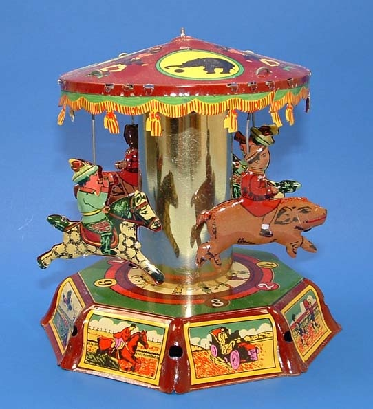 Valuable vintage marx toys merry go round has come