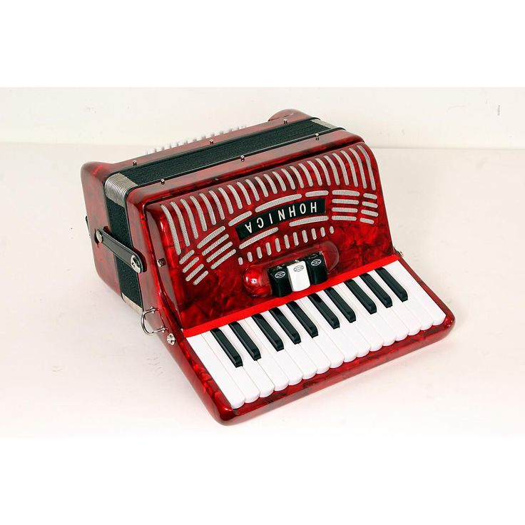 Hohner 48 Bass Entry Level Piano Accordion Red 888365778341