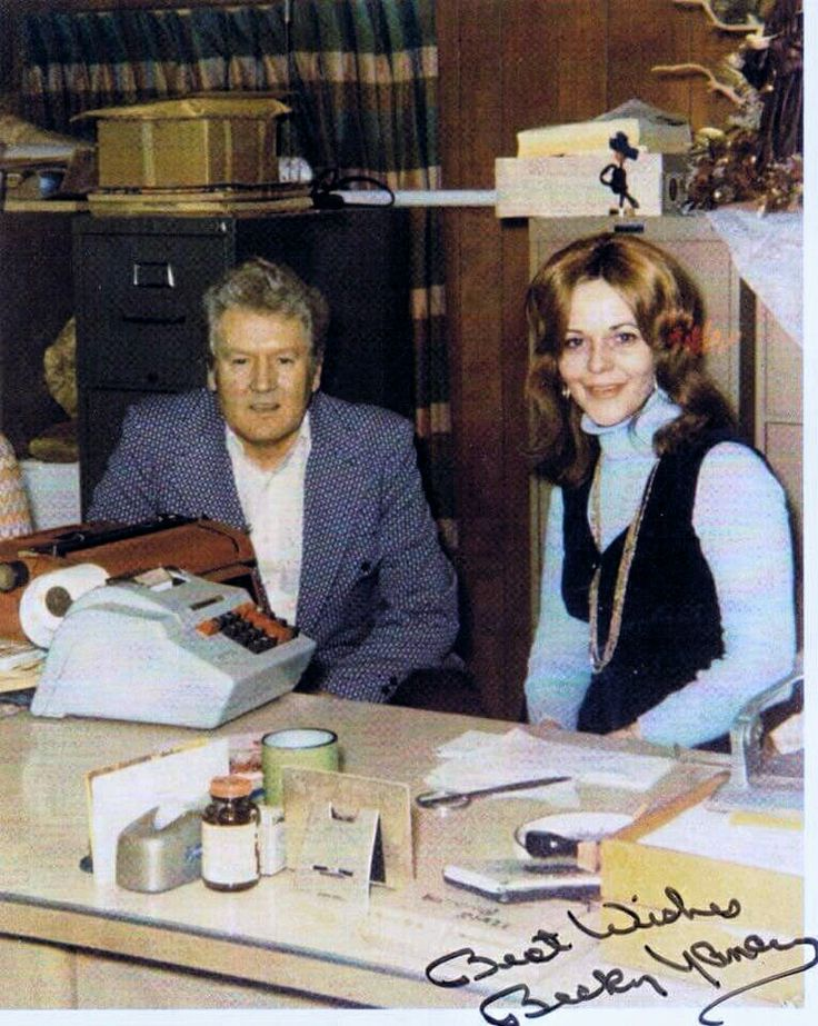 Vernon in his office at Graceland, with secretary Becky ...