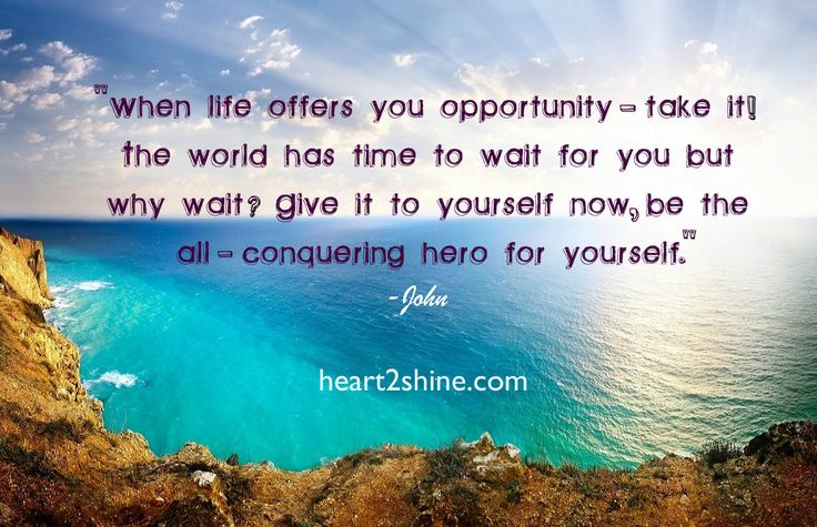 When Life Gives You an Opportunity- take it! Hold Your Horses, Spiritual Guidance from John. heart2shine.com