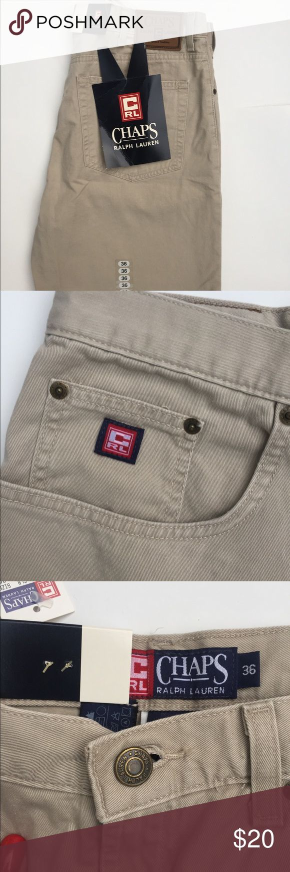 Men's khaki shorts Brand new never worn Men's chap shorts. Size 36. Tags are still attached. Chaps Shorts Flat Front