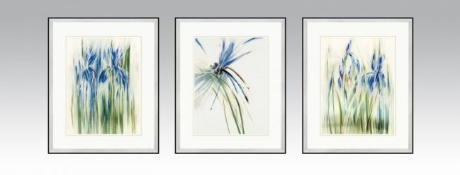Water Series 2 in a silver frame and light double passe-partout (Option 1).
