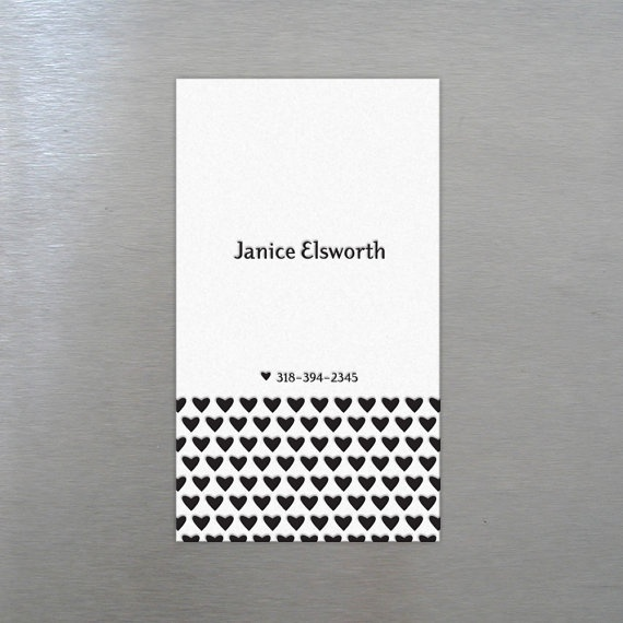 250 Custom Letterpress Business Cards  Hearts by RiseAndShinePaper, $125.00