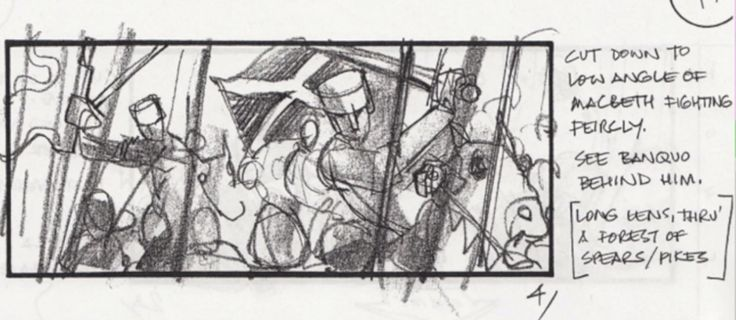 There's a storyboard with exciting music... and Banquo on the last page !  To play the storyboard ------> http://www.enemyofmanmovie.com/storyboards.html