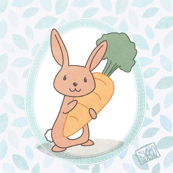 Happy Bunny   Kids Illustration by S.K.Y. van der Wel   #art #illustrations #drawing #childrenbook #kidsillustration #bunny #whimsical #illustrator #illustrationforkids #drawingaday #kidsart #spring #easter