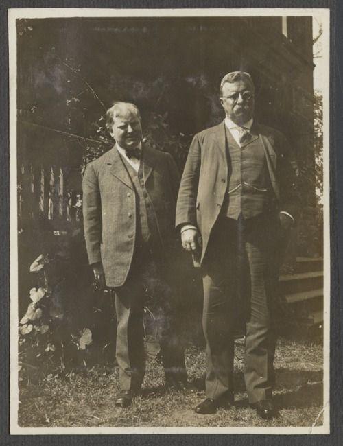 Theodore Roosevelt, the 26th president of the United States, with William Allen White, Emporia, Kansas, circa 1910