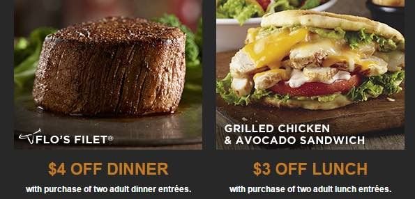 Check out these new coupons for LongHorn Steakhouse! Get $4.00 Off Two Adult Dinner Entrees or $2.00 Off one entree and $3.00 Off Two Lunch entrees or $1.50 off one! Grab your prints now and plan a night out!