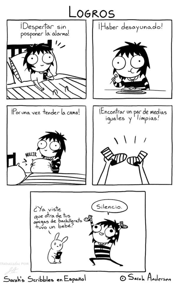 Sarah See Andersen ✤ SARAH'S SCRIBBLES || 搞笑漫畫 • #Risa #Comic #Memes #RealidadFemenina #Pensamientos || ★ https://es.pinterest.com/kunstler9/sarah-see-andersen/
