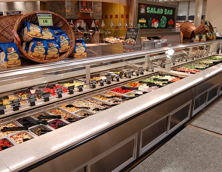 SSB-DS - Double-Sided Salad Bar:  Southern's SSB-DS is the food bar system which offers a solution for any store format. With various hot and cold configurations and a large array of optional materials and finishes, the SSB-DS can be the crown jewel of your food bar program and is suitable for ready to consume, cold, and/or hot foods.