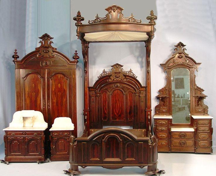 Vintage Victorian Bedroom Furniture : Best images about half tester beds on