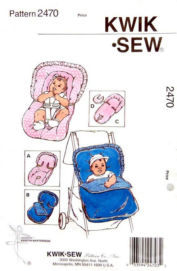 KWIK SEW 2470, Covers for car seats and strollers and Infant head protectors, Designed by Kerstin Martensson