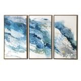 Abstract Regalite Triptych Floating Canvas Wall Art, 48x30 inches Over – Gallery 57 Abstract Canvas, Canvas Art Prints, Framed Art Prints, Canvas Paintings, Blue Abstract, 3 Piece Wall Art, 1 Piece, 3 Piece Canvas Art, Art Encadrée
