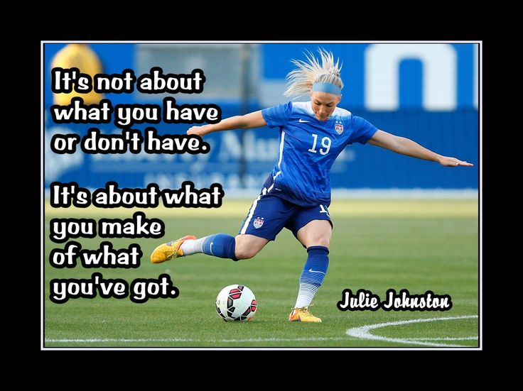 "Soccer Motivation Poster Julie Johnston Inspiration Photo Quote Wall Art 5x7""-11x14"" It's About What You Do With What You've Got - Free Ship by ArleyArt on Etsy"