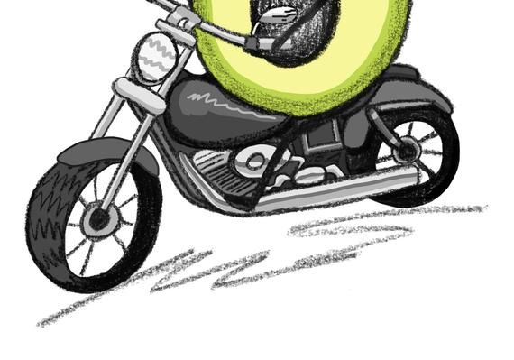 Motorbike Gift Father S Day Gift Motorcycle Art Avocado Print