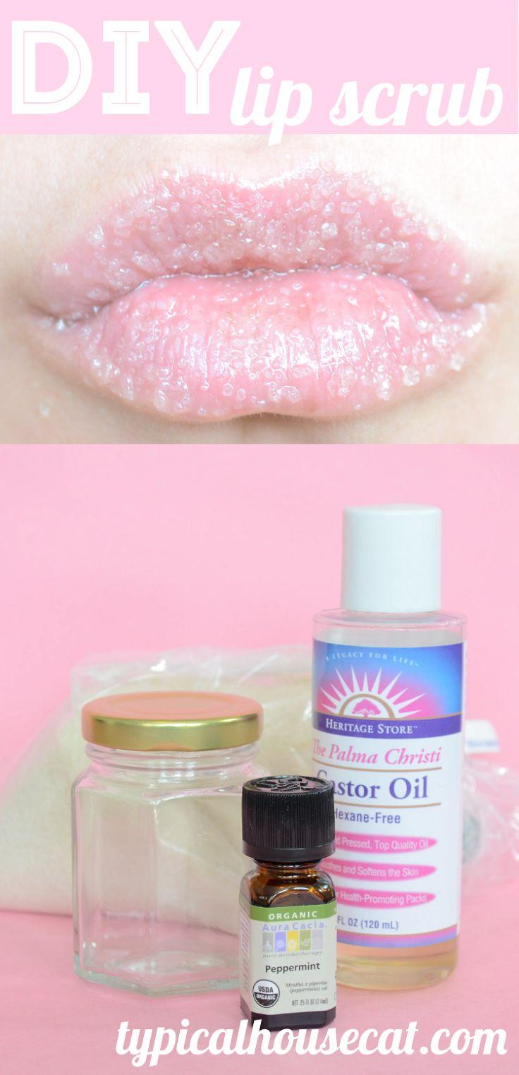Easy sugar lip scrub