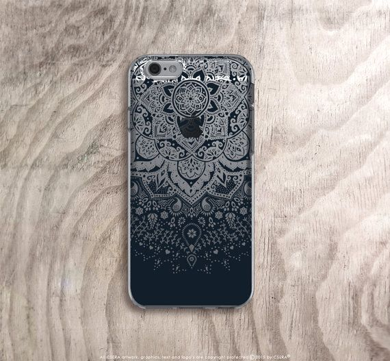 silver jewellery stores Black iPhone 6s Case Clear Mandala iPhone 6s Case by casesbycsera