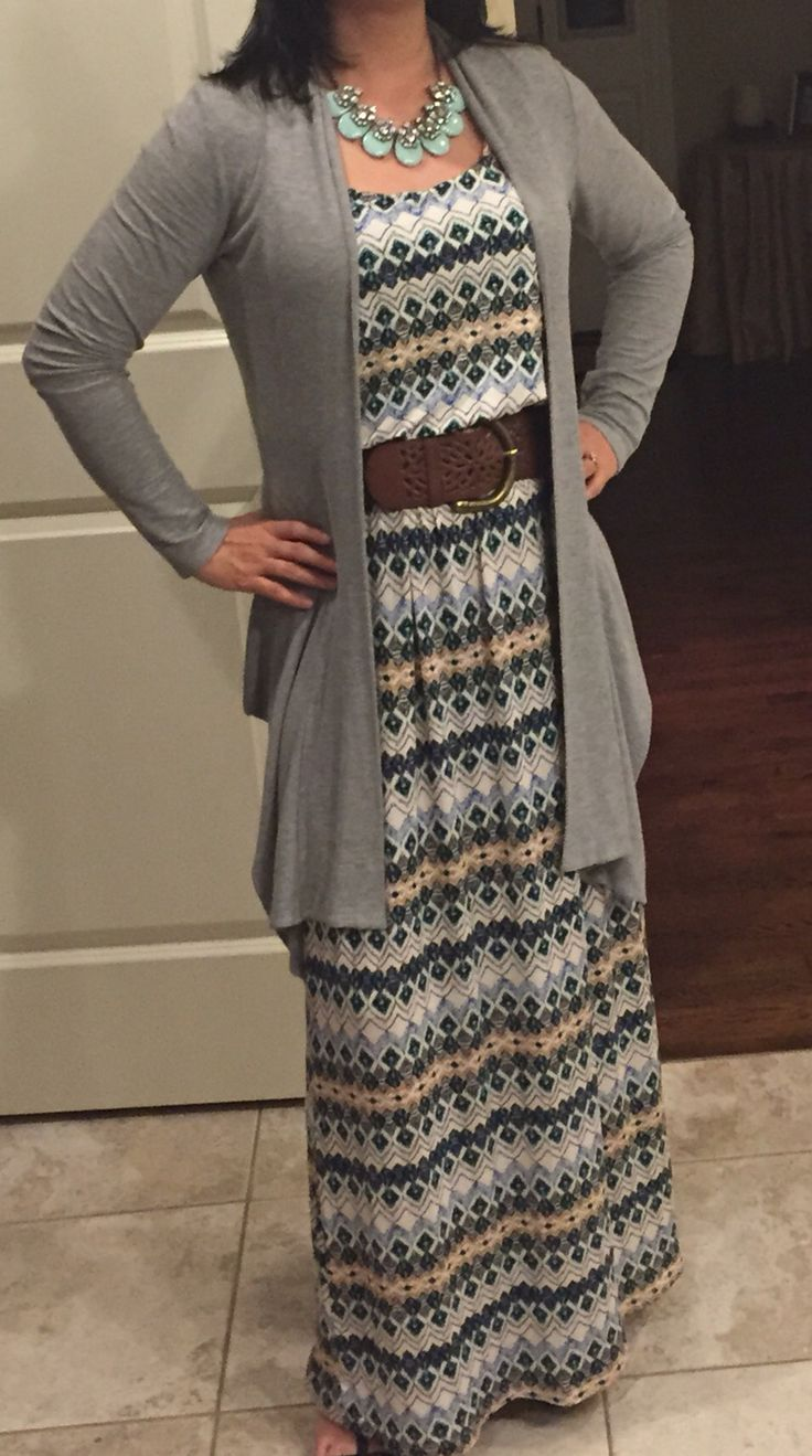 Love the print and colors! The necklace & belt are good too! Karly maxi dress by Gilli from March 2015 Stitch Fix