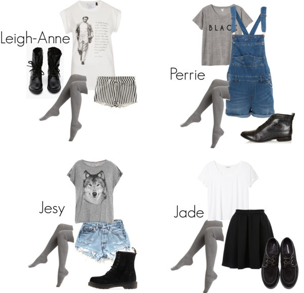 """""""Little Mix Inspired Outfits with Grey Overknee Socks"""" by llittlemix ❤ liked on Polyvore"""
