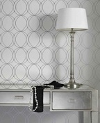 Darcy: White & Silver Wallpaper  like for the living room