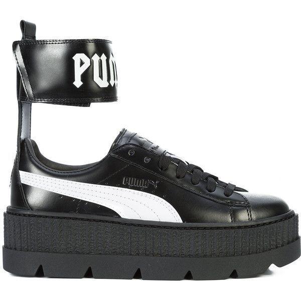 Fenty X Puma ankle strap platform sneakers ($213) ❤ liked