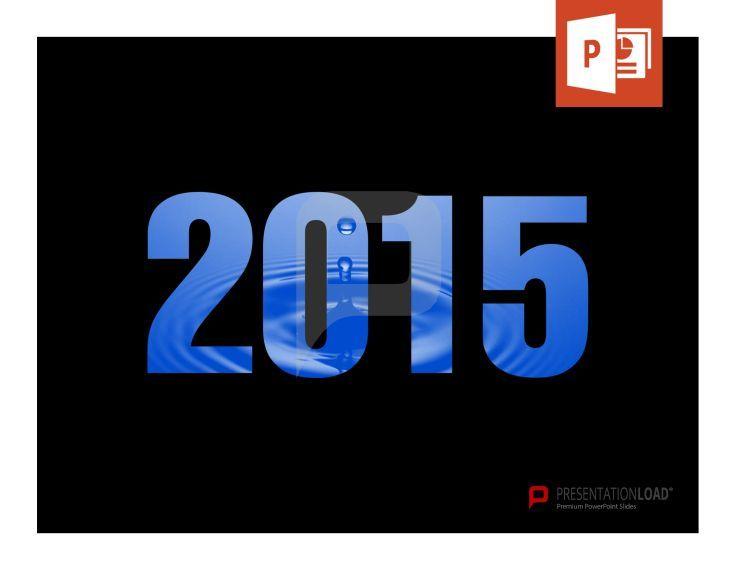 Kostenlose 2015 Vorlage: Hier kannst du sogar das Hintergrundbild selbst ändern.