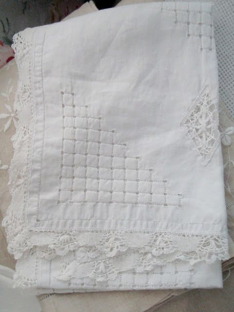 Embroidered White Linen