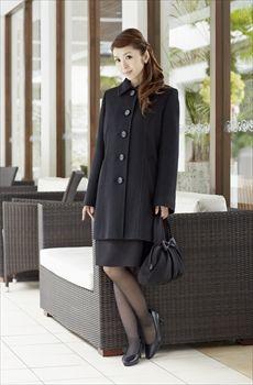 Aライン ミドル丈 ブラックフォーマル コート 喪服 女性 08G33702|MONOIR 喪服・礼服・ブラックフォーマルのモノワール