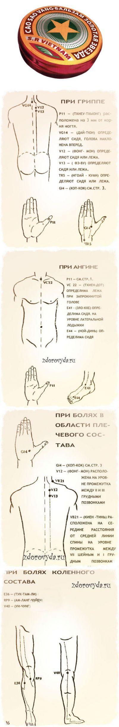 Бальзам «Золотая звезда» Правила эффективного применения.   Восточная медицина   Постила