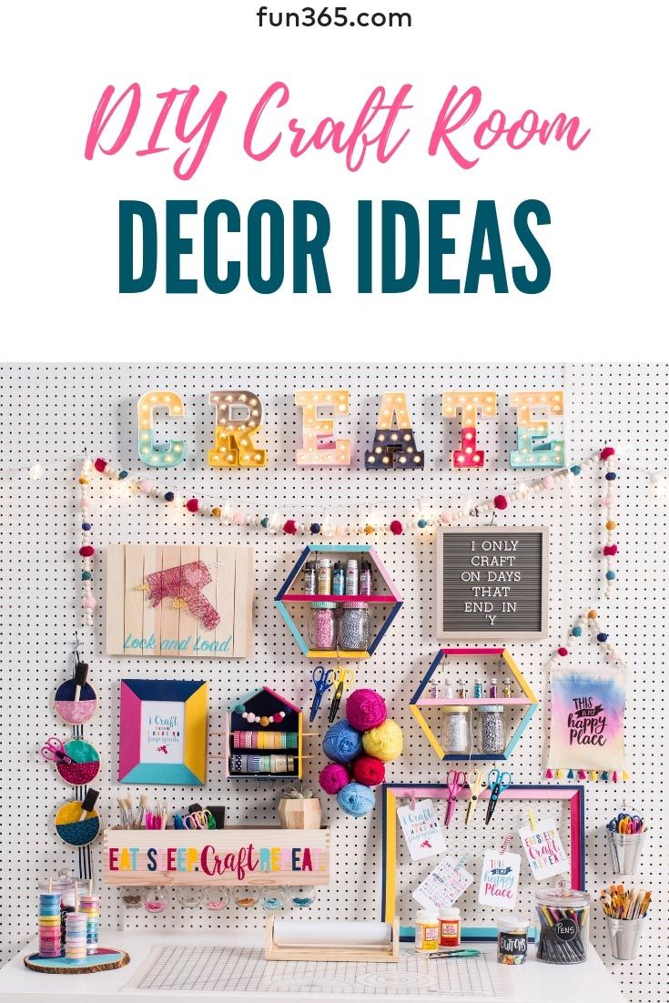 Organize And Beautify Your Craft Room With These Fun Diys We Give