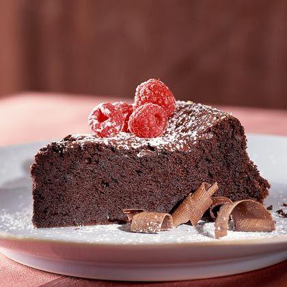 Dark-Chocolate Soufflé Cake by cookinglight  #Cake #Chocolate_Souffle_Cake #cookinglight